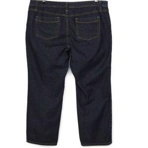 Avenue Jeans Straight Leg 20 Average Dark